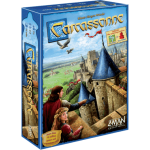 French Carcassonne City Tile Laying Game
